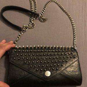 Rebecca Minkoff studded wallet black w/silver